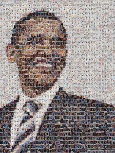Obama Mosaic. Bienal del Cartel Bolivia BICeBé® 2013