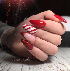 Christmas Shellac Nails, Christmas Gel Nails, Holiday Nails, Nailart, Fall Acrylic Nails, Fire Nails, Crystal Nails, Dream Nails, Nagel Gel