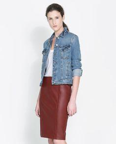 Image 2 of STRETCH DENIM JACKET from Zara