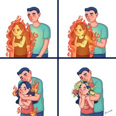 12 Comics That Will Ring a Bell With Anyone Who's Ever Fallen in Love Love Cartoon Couple, Cute Couple Comics, Couples Comics, Cute Couple Art, Cute Comics, Funny Comics, Cute Couples, Cute Love Stories, Cute Love Pictures