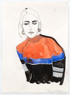 Rosie McGuinness - Ella - Fashion Illustration Gallery