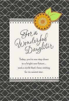 Sunflower Graduation Card for Daughter