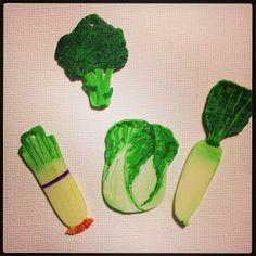 焼いた後の野菜プラバン Vegetable shrink plastic after shrinking #プラバン #プラ板 #shrinkplastic #shrinkydinks
