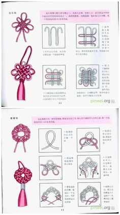 Excellent Free of Charge Macrame Knots diy Ideas Makramee-Knotenbindung – viele Verwendungszwecke. Macrame knot tying – many uses. Makramee-K Macrame Knots, Micro Macrame, Macrame Jewelry, Chinese Crafts, Rope Art, Bracelet Knots, Macrame Projects, Macrame Tutorial, Macrame Patterns