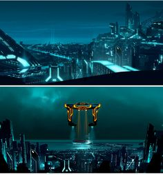 Tron world concept.