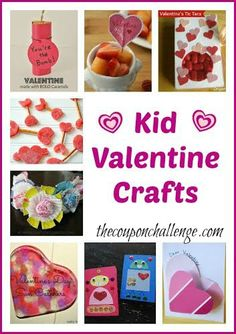 Celebrate Valentines Day with these 10 Kid Valentine Crafts.  All the crafts are easy enough for little ones to make on their own or with just a little bit of help from an adult.  Crafts are great to keep kids busy and to use as gifts for family and friends.