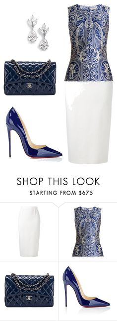 style theory by Helia by heliaamado on Polyvore featuring moda, Roland Mouret, Mary Katrantzou, Chanel, Christian Louboutin e Samantha Wills
