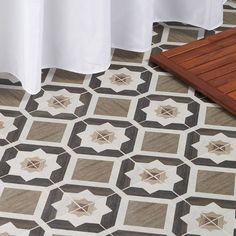Delancey Starwood Oak 8x8 Matte Porcelain Tile Bathroom Feature Wall Tile, Bathroom Flooring, Wall And Floor Tiles, Wall Tiles, Scandinavian Tile, Outdoor Porcelain Tile, Cleaning Tile Floors, Encaustic Tile, Shower Floor