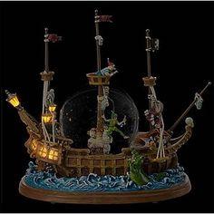 Disney Snow Globe - Peter Pan Pirate Ship