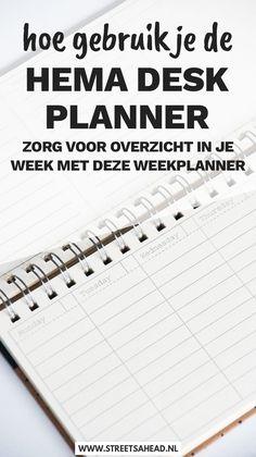 De Hema desk planner is een handige weekplanner die ik veel gebruik. In deze blogpost lees je hoe ik hem precies gebruik en wat de plus- en minpunten zijn. Week Planner, Planner Tips, Day Planners, Homework Planner, Life Planner, Woodworking Basics, Woodworking Projects Diy, Diy Agenda, Business Desk