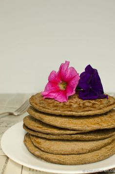 Buckwheat Pancakes  - Vegan And gluten free These were excellent. I added frozen blueberries and 2extra tbsp almond milk. Used home made apple sauce.