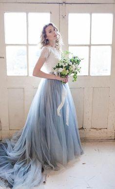 Pantone Serenity blue wedding dress | Karra Leigh Photography