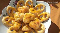 Syrové slané pečivo (fotorecept) Cauliflower, Shrimp, Cooking Recipes, Cookies, Vegetables, Food, Basket, Crack Crackers, Cauliflowers