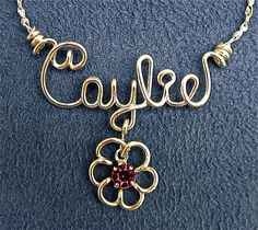 Personalized Wire Name Necklace or Anklet in by enames2u on Etsy