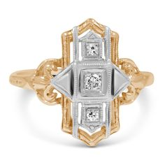14K Yellow Gold The Caroun Ring from Brilliant Earth