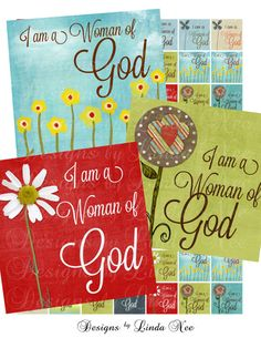 NEW  CHRISTian Woman of God 1 x 1 inch Images by DesignsbyLindaNee,