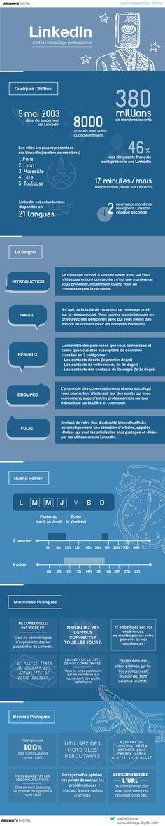 Infographie LinkedIn l'art du réseautage professionnel