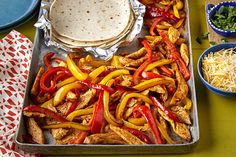 Try your hand at our Tex-Mex One-Pan Chicken Fajitas. These simple and scrumptious Tex-Mex One-Pan Chicken Fajitas will be your new weeknight go-to. Kraft Foods, Kraft Recipes, Mexican Dishes, Mexican Food Recipes, Mexican Meals, Turkey Recipes, Tex Mex, Fajita Seasoning Mix, Cooking