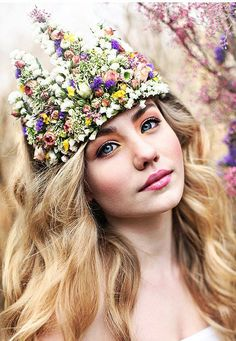 ❀ Flower Maiden Fantasy ❀ women & flowers in art fashion photography - Flower Crown
