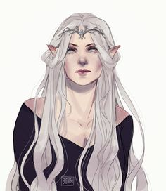 Name: Elithien Síloril Tindaurë Heritage: Half-Noldorin / Half-Sindarin Birth: circa. 586 Height: Hometown: Lindon (Beleriand) Status: Queen of the Woodland Realm Alignment: Chaotic Good Spouse: Thranduil Oropherion Children: Legolas. Fantasy Character Design, Character Creation, Character Drawing, Character Design Inspiration, Character Concept, Dnd Characters, Fantasy Characters, Female Characters, Thranduil