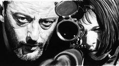 guns Natalie Portman men Leon The Professional Jean Reno grayscale