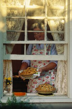 ...leaving the pies to cool on the sill was such a habit even though she feared the neighbors dog....