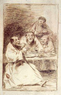 El aguafuerte Están calientes es un grabado de la serie Los Caprichos del pintor español Francisco de Goya 1799