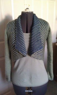 """Springtime in Paris"" in two color brioche.  Pattern from, ""Knits That Fit"" by Potter Craft"