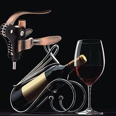 snaideal Kaninchen Stil Manuelle Wein Flaschenöffner bronze-colored Zink Legierung Hebel Korkenzieher-Set mit Folienschneider und extra Screwpull Geschenk Sets -