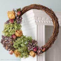DIY Dried Hydrangea Wreath | The Prettiest Fall Wreaths Made From Dried Flowers