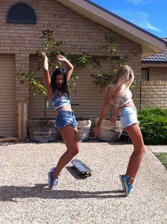Us this summer!!! I like the skateboard...main reason i repinned this lol