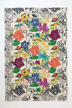 #Anthropologie #PinToWin - Bouvardia Crewelwork Rug - Beautiful craftwork!