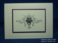 SU Bliss silver embossed (This card is larger than the normal A2 size)