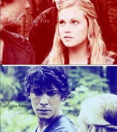 Fire to his flame. Bellarke.