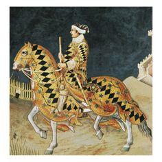 Equestrian Portrait of Guidoriccio Da Fogliano by Simone Martini.