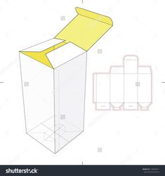 Vertical Tall Box with Die-cut Pattern #179039411