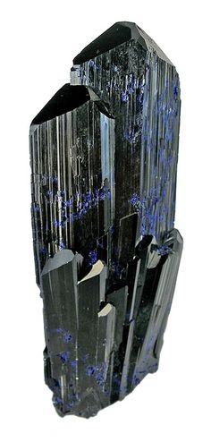This divergent fan like cluster azurite crystals superb The crystals
