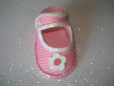 Zapatito para baby shower (souvenirs/adorno de torta)
