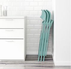 IKEA Quality furniture at affordable prices. Find everything from smart storage solutions, mattresses, textiles, wardrobes to kitchens & more. Balcony Furniture, Home Furniture, Ikea Folding Chairs, Turquoise Art, Foldable Chairs, Extra Seating, Floor Space, Space Saving, Turquoise