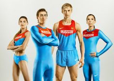 2012 Russian Olympic track and field uniforms