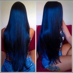 Vintage Blue Black Waves ❤ Want to pull off blue black hair? Dark blue balayage for long hair, jet black hair color with midnight blue highlights for medium length, ideas for short hair, and useful tips are here! Blue Black Hair Color, Cool Hair Color, Hair Colors, Navy Blue Hair, Dyed Hair Blue, Dark Blue, Pretty Hairstyles, Straight Hairstyles, Bride Hairstyles