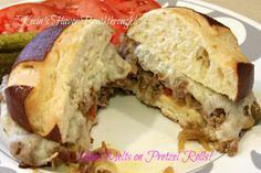 Steak Melts on Pretzel Rolls! For Cooking On A Budget...