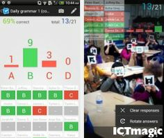 Amazing Apple and Android app which allows you to take a poll from your class instantly using the camera on your device. Your students simply hold up the symbol for the multiple choice answer they wish to give. The app logs how many answered each choice, but also who chose which answer - Making assessment and feedback easy. Apple download: https://itunes.apple.com/us/app/plickers/id701184049?ls=1&mt=8 Android download: https://play.google.com/store/apps/details?id=com.plickers.client.android