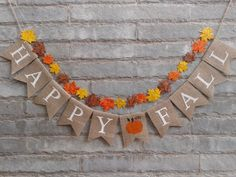 Check out our FALL BANNER selection for the very best in unique or custom, handmade pieces from our shops. Thanksgiving Banner, Holiday Banner, Thanksgiving Decorations, Fall Decorations, Preschool Decorations, Fall Burlap Banner, Burlap Flag, Fall Leaf Garland, Welcome Fall