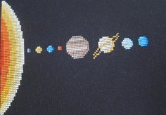 (10) Name: 'Embroidery : Solar System Cross Stitch Pattern