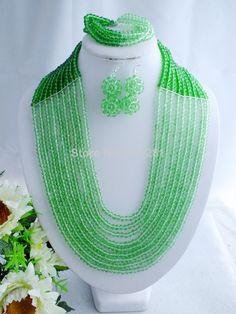 N132546987 Amazing Nigeria Jewelry !! Z-1781 Fashion African Crystal Handmade Beads Jewelry Set Fit Wedding $61.39