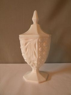 Westmoreland Milk Glass Covered Candy Dish by dbdesigns59 on Etsy, $22.00