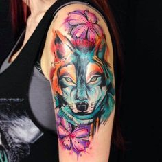 Wolf Tattoo Designs and Ideas on Arm