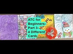 ATC for Beginners-Part 3- 4 Different Cards - YouTube