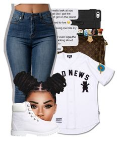 """Untitled #318"" by wateveruwant ❤ liked on Polyvore featuring Timberland"